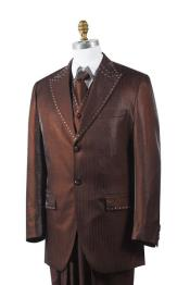 Chocolate brown Sharkskin Rhinestone