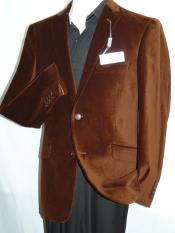 Adolfo Coco Chocolate brown Velvet Sportcoat Jacket Dancing Jacket Formal or trendy informal casual Soft Cotton Blazer - Velvet Blazer - Mens Velvet Jacket