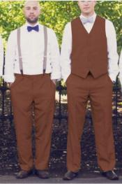 ID#AA429 Any Color Matching Groomsmen Vest ~ Waistcoat ~ Waist coat & Pants Combo Plus Any Color Shirt & Tie or Bow tie Combo Package Available in Big And Tall Sizes