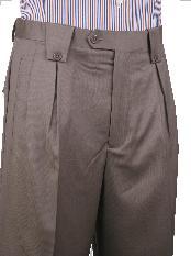 ID#MAF23 Leonardo Valenti Wide Leg Pant Light Brown