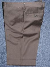 ID#KA12401 Coco Chocolate brown Wool fabric , Superior fabric 140'S Basic Solid Plain ~ plain FRONT