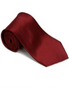 ID#DF311 Burgundy - Maroon - Wine Groomsmen VestColor Silk Basic Solid Plain Necktie With Handkerchief (Buy 10 of same color Tie For $15 Each)