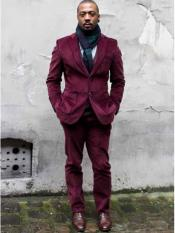Wedding Burgundy Prom Corduroy