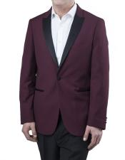 Wedding Burgundy Prom Two Toned Regular Fit Two Piece Prom ~ Wedding Groomsmen Tuxedo 2020 Suit Best Inexpensive ~ Cheap ~ Discounted Blazer For Men Affordable Sport Coats Sale ~ Burgundy Tuxedo