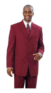 2 Button Wine Burgundy ~ Maroon Suit ~ Wine Color Men's Fashion 2 Piece Cheap Priced Business Suits Clearance Sale For Men (Not Long)