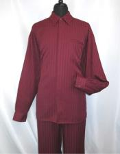 Burgundy Long Sleeve Collared