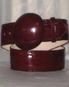 ID#JR12W Genuine Authentic Faded Burgundy Eel Skin western  Belt