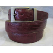 Authentic Burgundy Lizard skin