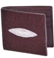 ID#KA3119 Wild West Boots Wallet- Burgundy ~ Maroon ~ Wine Color Genuine Exotic mantarraya stingray Single St