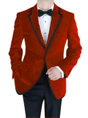ID#PQN-843 Velvet Velour Sportcoat Jacket Formal tux coats Sport Coat Two Tone Trimming Notch Collar Burgundy ~ Maroon ~ Wine Color