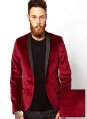 Jacket Tuxedo Burgundy &