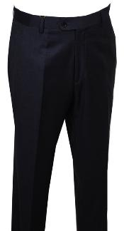 ID#FG115 Dress Pants Dark Charcoal Masculine color without pleat flat front Pants
