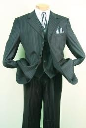 ID#ME762 Superior fabric 150's Luxurious Fashion 3 ~ Three Piece suit Dark Charcoal Masculine color