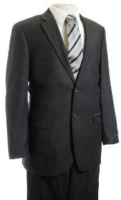 Charcoal Masculine color Pinstripe