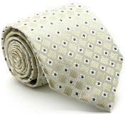 ID#MK202 Premium Checkered Diamond Groomsmen Ties Beige