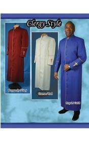 Preacher Suit Navy/White