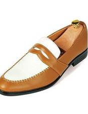 Tone Fashionable Cognac Slip-On