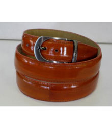 Authentic Cognac Eel Belt