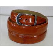 Authentic Cognac Eel Belt