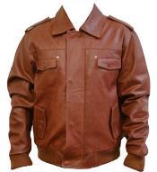 Leather skin Bomber Jacket
