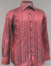ID#AC-464 Fancy Man Made Fiber Dress Cheap Fashion Clearance Shirt Sale Online For Men With Button Cuff Colar