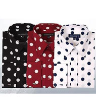 ID#PN-F32 Cotton Dress Cheap Fashion Clearance Shirt Sale Online For Men Polka Dot Pattern Formal Or trendy informal casual Multi-color