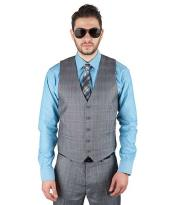 Button Matching Vest Suit