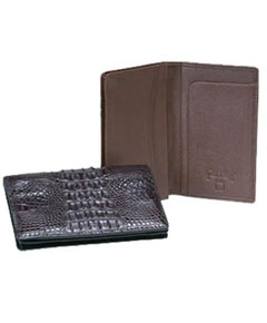 Hornback crocodile skin Card