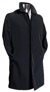 color black 3/4 Raincoat