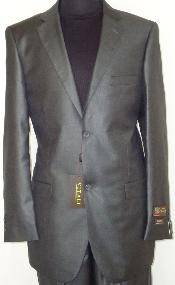 2-Button Shiny Charcoal Masculine