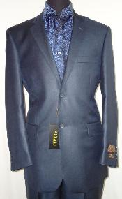 ID#NAB7001 Designer 2-Button Shiny Navy Blue Wedding / Prom Sharkskin Suit