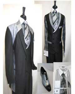 Breasted Vest Suit Dark