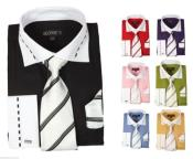 ID#PN-S51 fashion Dress Cheap Fashion Clearance Shirt Sale Online For Men With Tie&Hanky French Cuff Style Multi-color