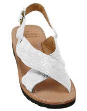 Skin Sandals in ostrich