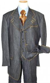 Denim Suit 3 Piece