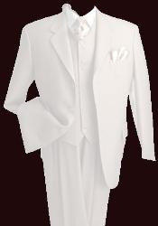 White Vested 3 Piece