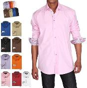 ID#PNB24 Stylish Button-down collar Dress Cheap Fashion Clearance Shirt Sale Online For Men Multi-color