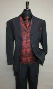 Button  Suit Vested