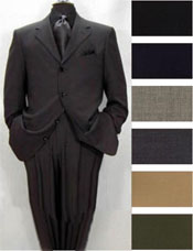 ID#ZX33 High crafted professionally Four buttons Basic Solid Plain Colors Pleated creased Pants Worsted Wool fabric