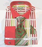 Multi Pattern French Cuff Dress Shirt
