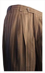 ID#RM1722 pronounce visible Chalk Pinstripe Gangster Slacks Pleated creased Mens Wide Leg Trousers Dark color black/White and Navy/White Dress Pants