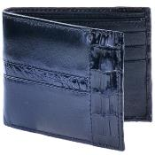 caiman leather wallet