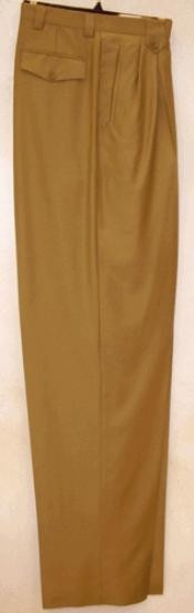 ID#SK821 Long length rise big leg slacks Gold Wide Leg Dress Pants