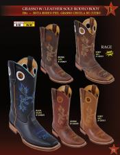 ID#FX2E Authentic Los altos Grasso w/ Leather skin Sole Rodeo western  Boots Diff. Colors