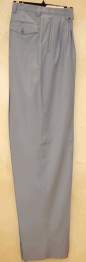 Long length rise big leg slacks Silver Gray wide leg dress pants Pleated creased baggy dress trousers