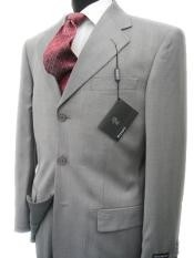 Collezinai SUIT~150S WOOL~LIGHT GRAY