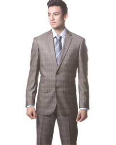 Plaid Slim Fit Suit