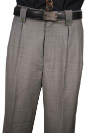 Fit Pleated Front Gray