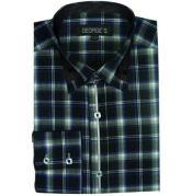 ID#SM490 Green Dress Cheap Fashion Clearance Shirt Sale Online For Men Long length Sleeve Plaids And Checks Pattern