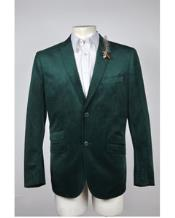 buttons Velvet Jacket Green